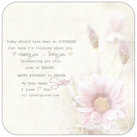 happy birthday quotes for sister in heaven