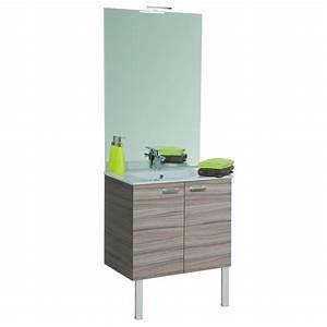 Meuble de salle de bains complet largeur 60 cm angelo for Meuble salle de bain angelo
