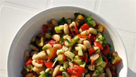 salade de haricots blancs tomate poivron et