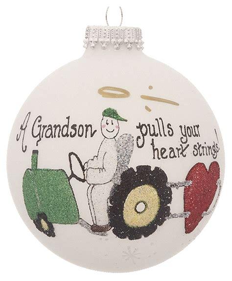 grandson tractor personalized ornament