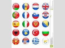Europe Flags Buttons, Part One Royalty Free Stock Image