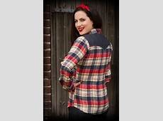 Rumble59 Flannel Shirt Sassy Country Gal Rockabilly Rules