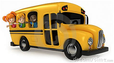 kids riding school bus stock images image