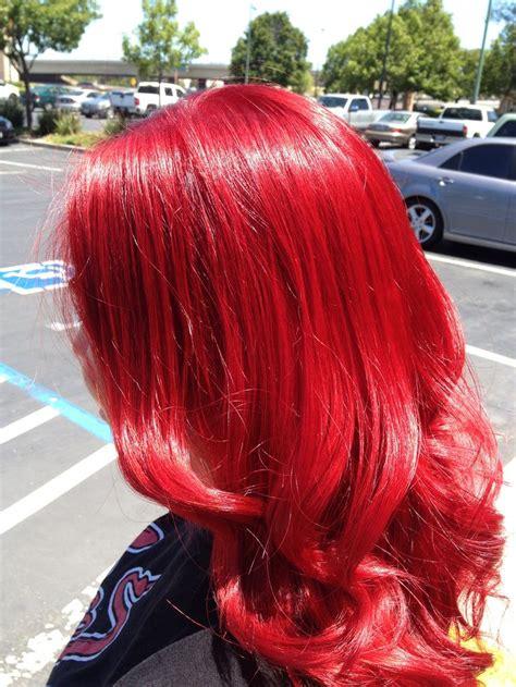 Bright Red Hair Hair By Sumer Wade Hair And Makeup