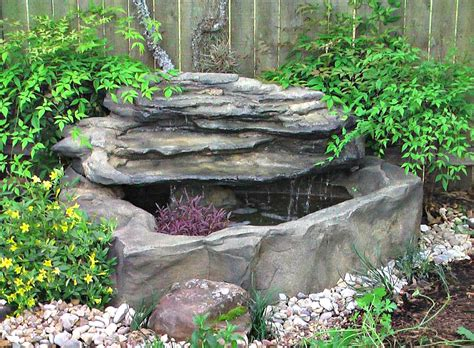 Molded Plastic Garden Furniture by Small Patio Deck Rock Ponds Amp Preformed Pond Waterfall Kits