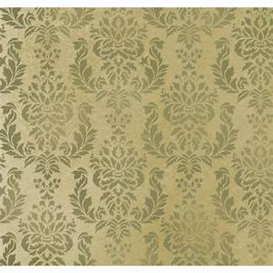 Wall Stencil Damask Verde - Allover Wall Pattern for DIY