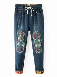 Denim with Elastic Waist Jeans for Women