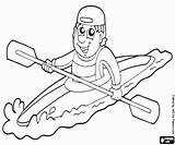 Kayak Coloring Paddler Individual Printable sketch template