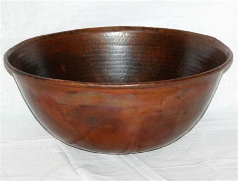Bathroom Sinks Vessel Bowls by 14 Quot Hammered Copper Vessel Bathroom Sink Ebay