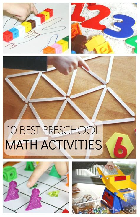 preschool math activities for back to school early learning 926 | 10 Back To School Preschool Math Activities for counting shapes and number recognition