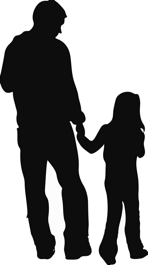 Father Daughter Silhouette Clip Art at GetDrawings | Free