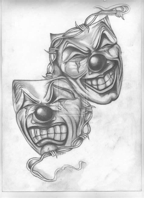 Theatrical Masks by PatrickJking on DeviantArt