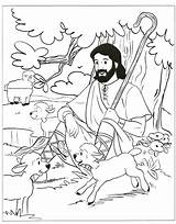 Shepherd Coloring Jesus Pages Sheep Bible Print Printable Sheets Lost Sunday Lord Google Story Amazing Activities Psalms Crafts Funny Colouring sketch template