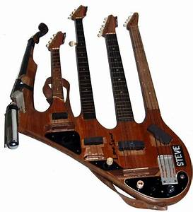 5-neck, electric bass-guitar-banjo-mandolin-fiddle ...