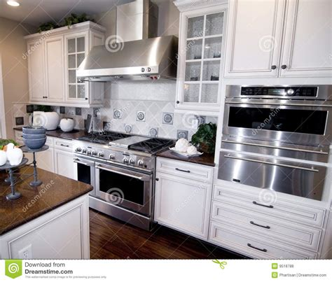 Luxury Custom Built Kitchen Royalty Free Stock Photos