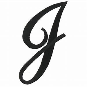 Joy 3 Black Embroidered Iron-On Script Letter - J | Shop ...