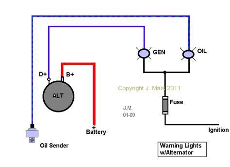 2 Wire Alternator Diagram by Thesamba View Topic Alternator Wiring