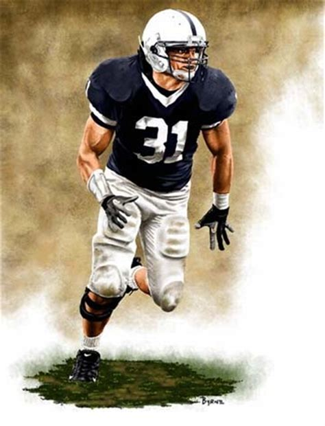 Paul Posluszny Penn State Nittany Lions Linebacker Art Print