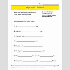 Adjectives Describe  Printable Adjectives Worksheet