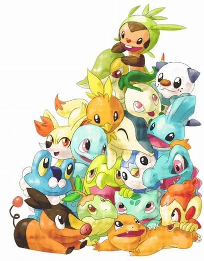 Pokemon Starter Starters Gen Fan Chespin Pikachu