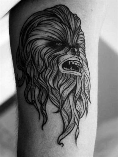 chewbacca tattoo designs  men star wars ink ideas