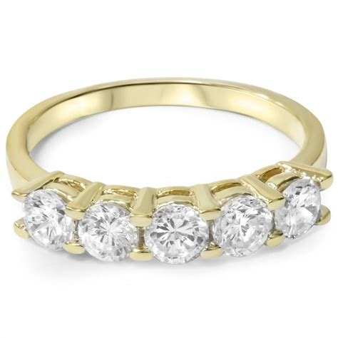 ct diamond  stone wedding anniversary  yellow gold