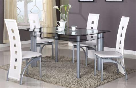 Brand New 5 Pcs Modern Dining Set, Glass Top Dining Room