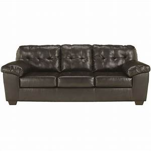 Ashley furniture alliston leather sofa in brown 2010138 for Brown leather sectional sofa ashley furniture