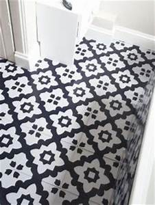 1000 images about bathroom on pinterest tile floors for Black and white linoleum sheet flooring