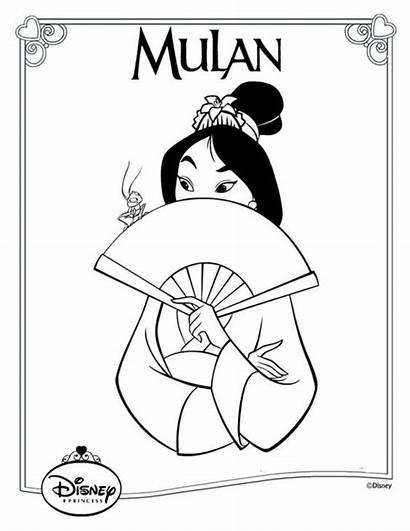 Coloring Disney Pages Mulan Princess Colouring Covers