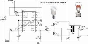 12v Cfl Emergency Light Circuit Using 3525 Ic