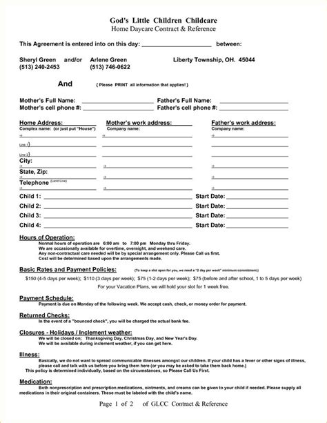 daycare contract template best 25 daycare contract ideas on daycare ideas in home daycare and home daycare