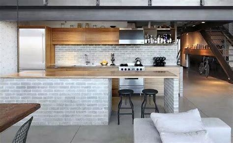 industrial style kitchen bar design