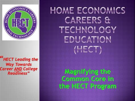 PPT - Home Economics Careers & Technology Education (HECT ...