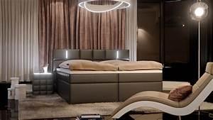 Boxspringbett B Ware : sam hotelbett mit led boxspringbett 200 x 200 cm grau salerno ~ Watch28wear.com Haus und Dekorationen