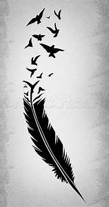 How to Draw a Black Feather, Black Feather Tattoo, Step by ...