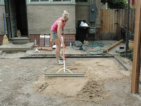 installing a patio minimalist how to lay a brick paver patio how tos diy