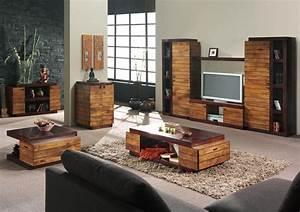 meuble tele bois exotique art deco 2080 With idee deco cuisine avec chaise de salon en bois
