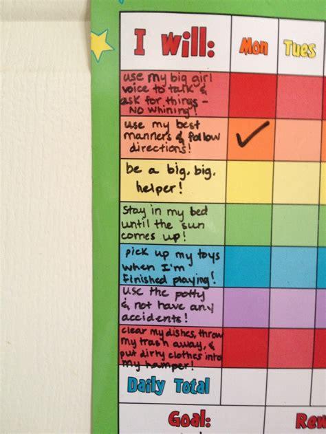 toddler sticker reward chart