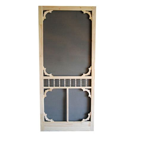 screen door home depot screen tight 36 in x 80 in colonial wood unfinished
