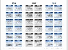 3Year Calendar Template for Excel