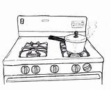 Stove Gas Drawing Sketch Coloring Behance Credit Larger sketch template