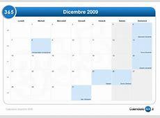 Calendario dicembre 2009