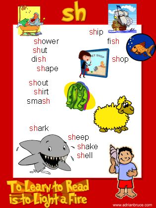 Sh Phonics Poster  Sh Wordlist  Sh Spelling List  Word Family Poster  Free & Printable
