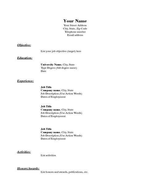2019 Resume Template - Fillable, Printable PDF & Forms   Handypdf