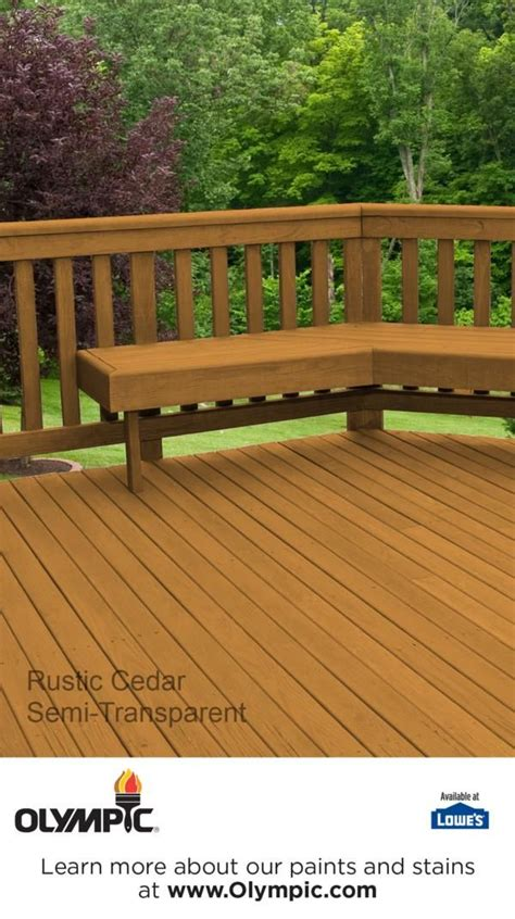 rustic cedar semi transparent semi solid stain colors