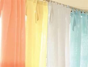 Rideau Couleur Or : rideau couleurs sorbet linvosges ~ Teatrodelosmanantiales.com Idées de Décoration