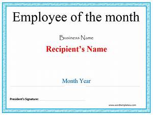 employee of the month certificates templates 28 images With employee of the month certificate template with picture