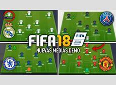 FIFA 18 MEDIAS OFICIALES DEMO REAL MADRID, PSG, CHELSEA