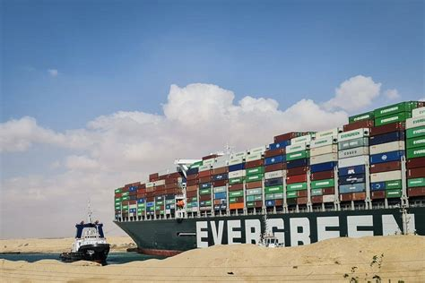 The Ever Given container ship was reportedly travelling ...